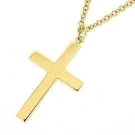 Gucci 18K YG Cross Necklace