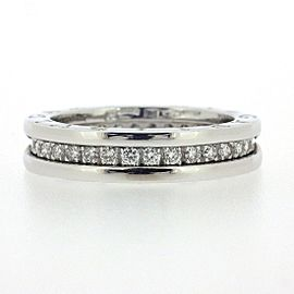 Bulgari 18K WG B-zero1 Diamond Ring Size 5.75
