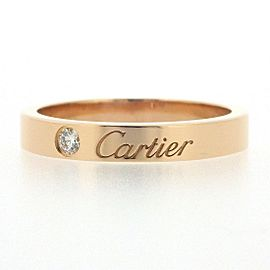 Cartier 18K RG Diamond Ring Size 5.25