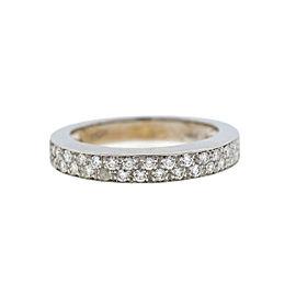 18K White Gold Diamond Ring Size 8.5