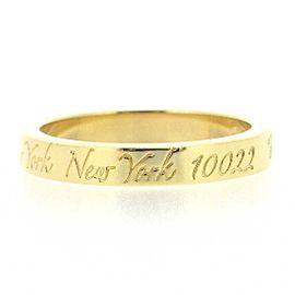 Tiffany & Co. 18K YG Notes Narrow Ring Size 3.75