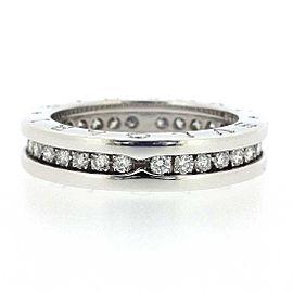 Bulgari 18K WG B-Zero1 XS Diamond Ring Size 5.25