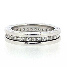 Bulgari 18K WG B-Zero1 XS Diamond Ring Size 5.5