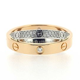 Cartier 18K WG Diamond Paved Double Ring Size 6
