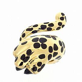 Christian Dior 18K YG Mitza Panther Ring Size 6