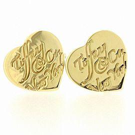 Tiffany & Co. 18K YG Heart Pierced Earrings