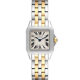 Cartier Santos Demoiselle Steel Yellow Gold Ladies Watch W25066Z6