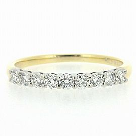 Tiffany & Co. 18K YG Platinum Diamond Ring Size 5
