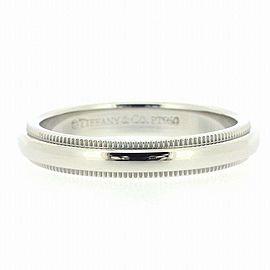 Tiffany & Co. Platinum Milgrain Ring Size 5.25