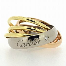 Cartier Trinity La Belle Diamond Ring Size 5.75