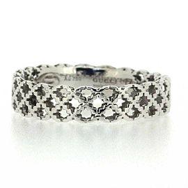 GUCCI 18K WG Diamantissima Light Ring Size 8