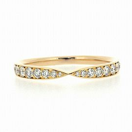 Tiffany & Co. 18K RG Harmony Diamond Ring Size 5