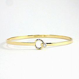 Tiffany & Co. 18K YG Hook & Eye 1 Point Diamond Bangle