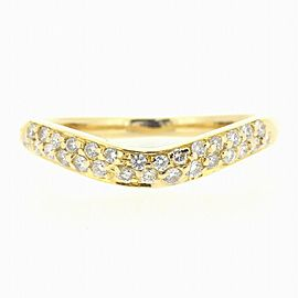 BVLGARI 18K YG Corona Diamond Ring Size 4.75