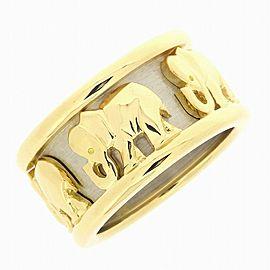 Cartier 18K YG Candy Elephant Motif Ring Size 7.25