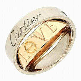 Cartier 18K WG/RG Love Secret Ring Size 8