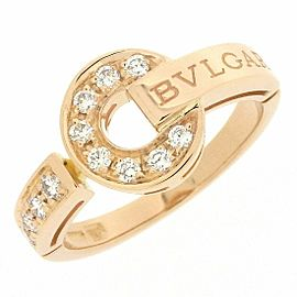 BVLGARI 18K RG Diamond Ring Size 6.25