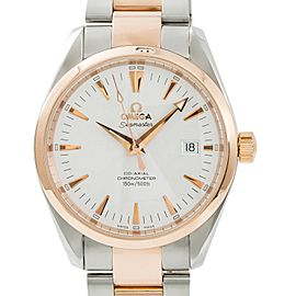 Omega Seamaster Aqua Terra 168.1111 Mens Automatic Watch 18k Rose Two Tone 39mm