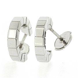 Cartier 18K WG Lanieres Pierced Earrings