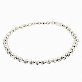 Cartier 18K WG Perles de Diamond Diamond Bracelet