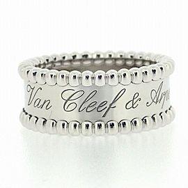 VanCleef&Arpels 18 WG Perlee Signature Ring Size 5
