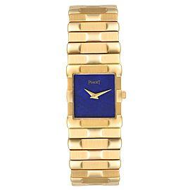 Piaget 18K Yellow Gold Lapis Lazuli Dial Quartz Mens Watch 81301