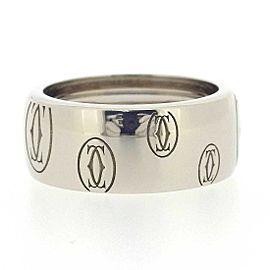 Cartier 18K WG Happy Birthday Wide Ring Size 5.5