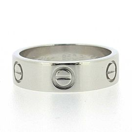 Cartier Platinum Love Ring Size 6.75