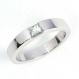 Cartier 18K WG Tank 1 Point Diamond Ring Size 6.75