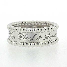 VanCleef&Arpels 18K WG Perlee Signature Ring Size 7.75