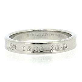 Tiffany & Co. Platinum 1837 Ring PT950 Size 4.5