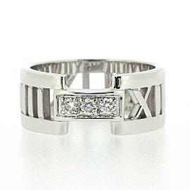 Tiffany & Co.18K WG Atlas 3 Point Diamond Ring Size 6