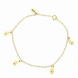 Tiffany & Co. 18K YG Tear Drop 5 Motif Bracelet