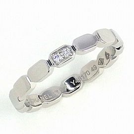 CHANEL Platinum Premiere Promesse 2 Point Diamond Ring Size 4.75
