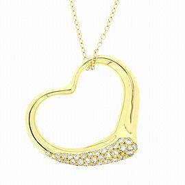 Tiffany & Co. 18K YG Open Heart Diamond Necklace