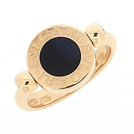 BVLGARI 18K RG Flip Shell Onyx Ring Size 4.25
