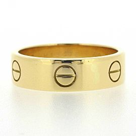 Cartier 18K YG Love Ring Size 8.5
