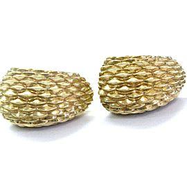 Tiffany & Co 14Kt Yellow Gold Huggie Earrings 23.5mm
