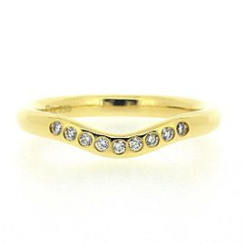 Tiffany & Co. 18K YG Curved Band Diamond Ring Size 4.25