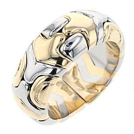 BVLGARI 18K WG/Stainless Parenthesi Ring Size 6