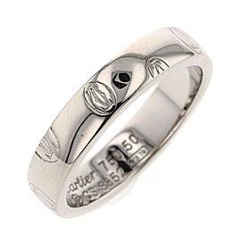 CARTIER 18K WG Happy Birthday Ring Size 5.25