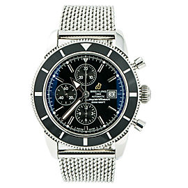 Breitling Superocean Heritage A13320 Mens Automatic Black Watch Chronograph 46mm