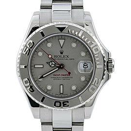 Rolex Yacht-Master 168622 Unisex Automatic Watch Platinum Dial & Bezel SS 35mm