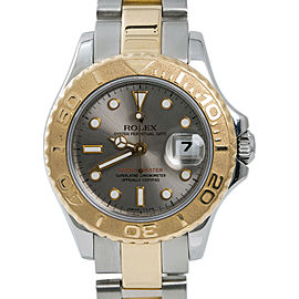 Rolex Yacht-Master 69623 Womens Automatic Watch 18k Two Tone SS 29mm