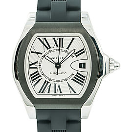 Cartier Roadster 3312 W6206017 Mens Automatic Watch Stainless Steel 39mm
