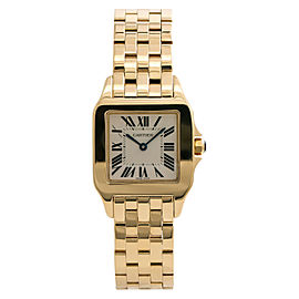 Cartier Santos Demoiselle 2702 W25062X9 Unisex Quartz Watch 18K Solid Gold 26mm