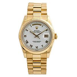 Rolex Day-Date President 118238 Heavy Bracelet Mens Watch W/Papers 18K Gold 36mm