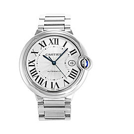Cartier Ballon Bleu 3765 W69012Z4 Mens Automatic Watch With Box & Papers 42MM