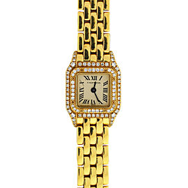Cartier Mini Panthere Factory Diamonds 18k Yellow Gold 1131 Women's Watch