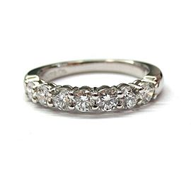 TIFFANY & CO. PLATINUM .56 .57 DIAMOND 3MM SHARED SETTING WEDDING BAND RING US 9